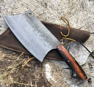 Damascus Pit Master Cleaver